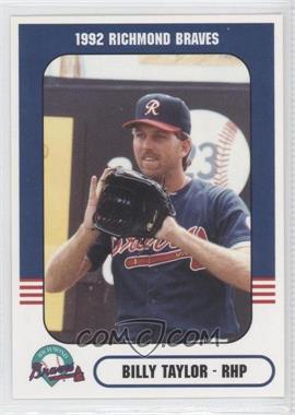 1992 Richmond Comix & Cardz Richmond Braves - [Base] #43 - Billy Taylor