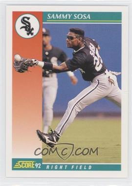 1992 Score - [Base] #258 - Sammy Sosa