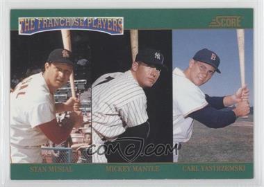 1992 Score - The Franchise #4 - Mickey Mantle, Carl Yastrzemski, Stan Musial