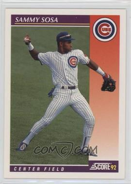 1992 Score Rookie & Traded - [Base] #23T - Sammy Sosa