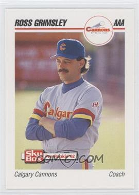 1992 Skybox Pre Rookie Calgary Cannons 75 Ross Grimsley
