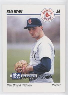 1992 SkyBox Pre-Rookie - New Britain Red Sox #494 - Ken Ryan