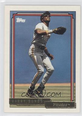 1992 Topps - [Base] - Gold #380 - Barry Bonds