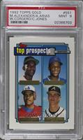 Manny Alexander, Alex Arias, Wil Cordero, Chipper Jones [PSA 9 MINT]