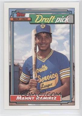 1992 Topps - [Base] #156 - Manny Ramirez