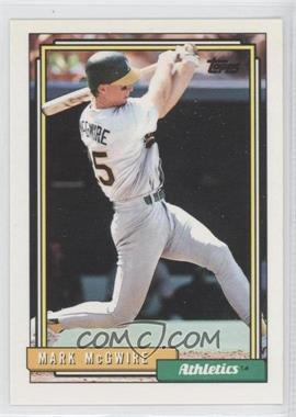 1992 Topps - [Base] #450 - Mark McGwire