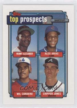 1992 Topps - [Base] #551 - Manny Alexander, Alex Arias, Wil Cordero, Chipper Jones