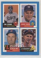 Carl Erskine, Jackie Jensen, George Kell, Red Schoendienst [Noted]