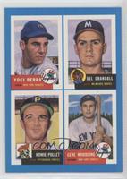 Yogi Berra, Del Crandall, Howie Pollet, Gene Woodling