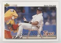 Cecil Fielder (Sitthing with the San Diego Chicken)