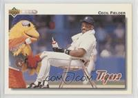 Cecil Fielder (Sitting with the San Diego Chicken)