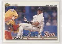 Cecil Fielder (Sitting with the San Diego Chicken)