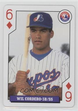 1993 Bicycle Baseball Rookies Playing Cards - Box Set [Base] #6D - Wil Cordero