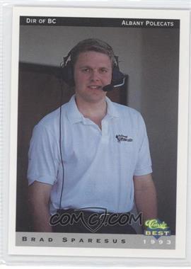 1993 Classic Best Albany Polecats - [Base] #29 - Brad Sparesus