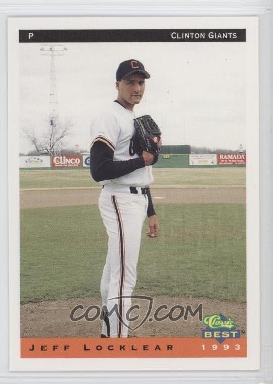 1993 Classic Best Clinton Giants Base 15 Jeff Locklear