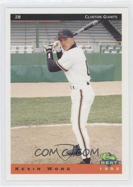 1993 Classic Best Clinton Giants - [Base] #24 - Kevin Wong