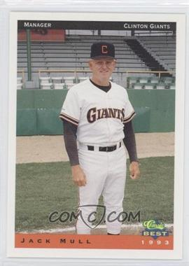 1993 Classic Best Clinton Giants - [Base] #26 - Jack Mull