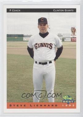 1993 Classic Best Clinton Giants - [Base] #28 - Steve Lienhard