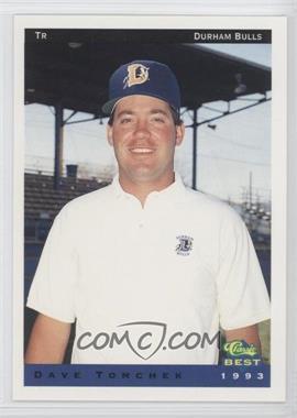 1993 Classic Best Durham Bulls - [Base] #30 - Dave Tomchek (Checklist)