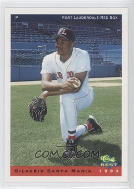 1993 Classic Best Ft. Lauderdale Red Sox - [Base] #23 - Silverio Santa Maria