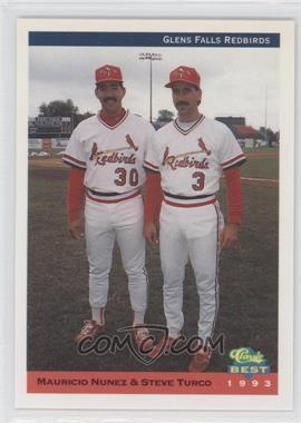 1993 Classic Best Glens Falls Redbirds - [Base] #30 - Mauricio Nunez, Steve Turco