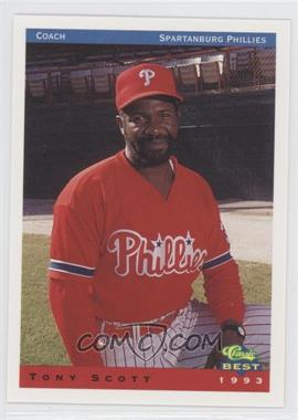 1993 Classic Best Spartanburg Phillies - [Base] #26 - Tony Scott