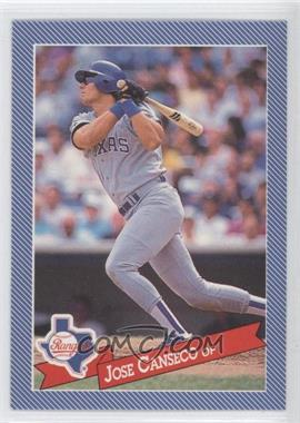 1993 Continental Baking Hostess Baseballs - [Base] #10 - Jose Canseco
