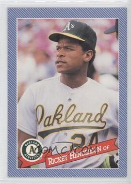 1993 Continental Baking Hostess Baseballs - [Base] #23 - Rickey Henderson