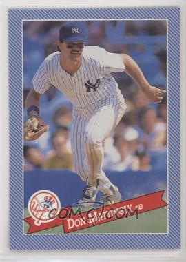 1993 Continental Baking Hostess Baseballs - [Base] #28 - Don Mattingly