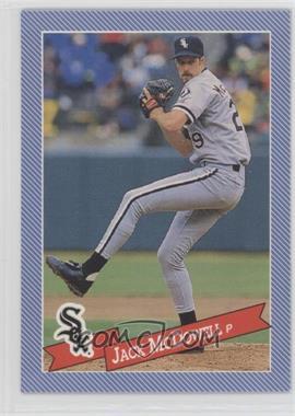 1993 Continental Baking Hostess Baseballs - [Base] #31 - Jack McDowell