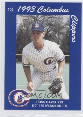 1993 Cracker Jack Columbus Clippers Police - [Base] #13 - Russ Davis