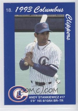 1993 Cracker Jack Columbus Clippers Police - [Base] #18 - Andy Stankiewicz
