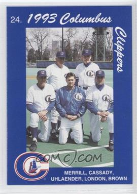 1993 Cracker Jack Columbus Clippers Police - [Base] #24 - Coaches