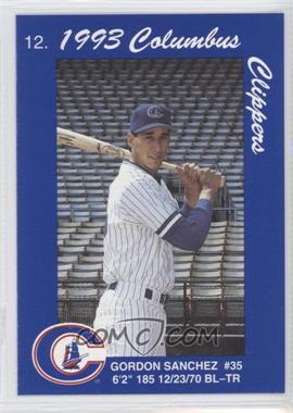 1993 Cracker Jack Columbus Clippers Police - [Base] #N/A - Gordon Sanchez