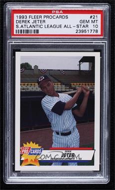 1993 Fleer ProCards South Atlantic League All-Star Game - [Base] #SAL-21 - Derek Jeter [PSA10GEMMT]
