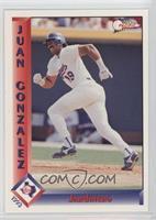 Juan Gonzalez (Blue Jersey on Back)
