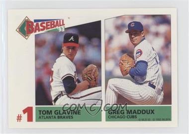 1993 Panini Album Stickers - [Base] #159 - Tom Glavine, Greg Maddux