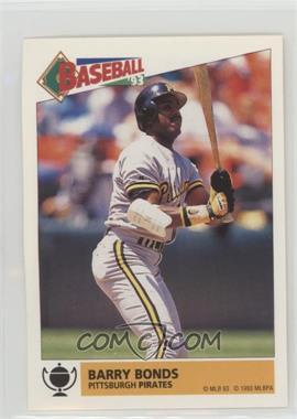 1993 Panini Album Stickers - [Base] #165 - Barry Bonds