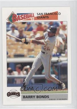 1993 Panini Album Stickers - [Base] #243 - Barry Bonds
