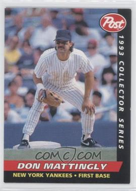 1993 Post - Food Issue [Base] #12 - Don Mattingly