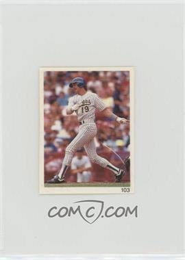 1993 Red Foley's Best Baseball Book Ever Stickers - [Base] #103 - Robin Yount