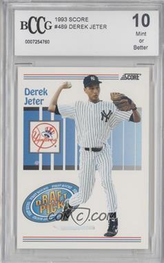 1993 Score - [Base] #489 - Derek Jeter [ENCASED]