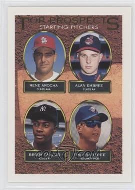1993 Topps - [Base] - Gold #742 - Rene Arocha, Alan Embree, Brien Taylor, Tim Crabtree