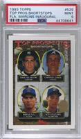 Dave Silvestri, Chipper Jones, Benji Gil, Jeff Patzke [PSA 9 MINT]