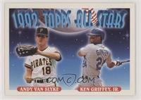 Andy Van Slyke, Ken Griffey Jr. [Noted]