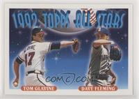 Dave Fleming, Tom Glavine [EX to NM]