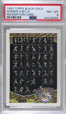 1993 Topps - Black Gold - Redemptions #ABCD - Winner ABCD [PSA8NM‑MT]