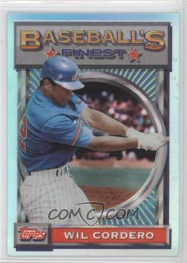 1993 Topps Finest - [Base] - Refractor #123 - Wil Cordero