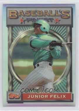 1993 Topps Finest - [Base] - Refractor #173 - Junior Felix
