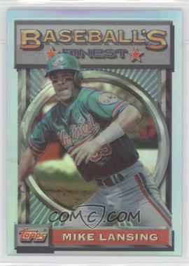 1993 Topps Finest - [Base] - Refractor #186 - Mike Lansing